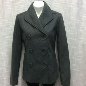 Rampage Charcoal Double Breasted Peacoat Size M